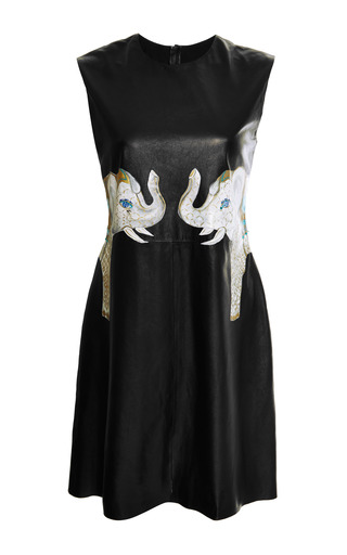 Medium holly fowler black holly fowler mo exclusive leather jewelled elephants dress