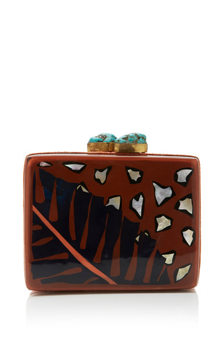 Medium aranaz orange aranaz anahaw minaudiere clutch 2