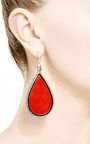 I Inlaid Sliced Coral And Spiked Earrings by EDDIE BORGO Now Available on Moda Operandi