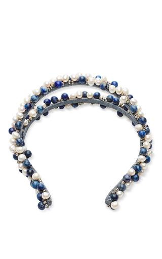 Medium masterpeace multi masterpeace blue and white pearl headband 2
