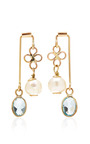 One Of A Kind 12 K Gold, Topaz And Pearl Earrings by SANDRA DINI Now Available on Moda Operandi