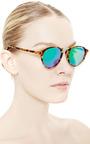 Audacia Mirroed Tortoiseshell Sunglasses by SPEKTRE Now Available on Moda Operandi