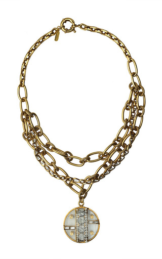 Medium vickisarge gold one of a kind gold chain necklace with pendant 2