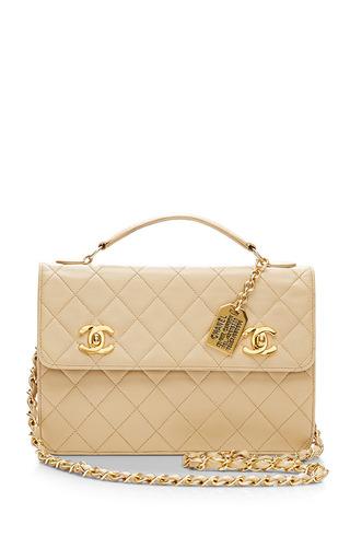 Medium what goes around comes around brown chanel beige mini attache bag