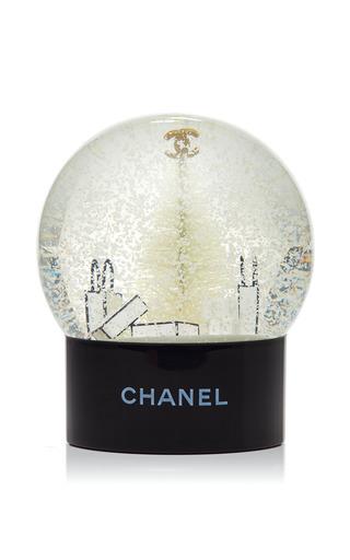 Medium what goes around comes around gold chanel holiday snow globe
