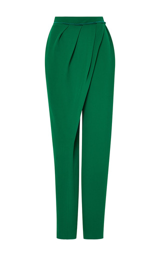 Medium vika gazinskaya green low waist wrap pant in green 2