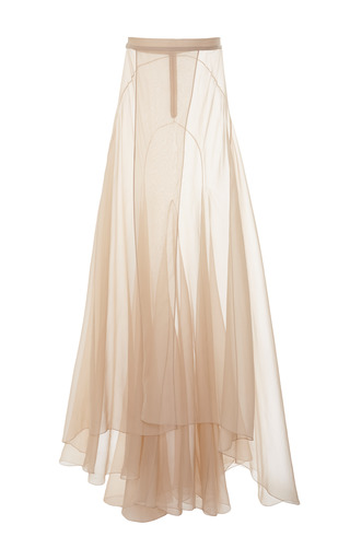 Medium vionnet brown vionnet nude organza evening skirt