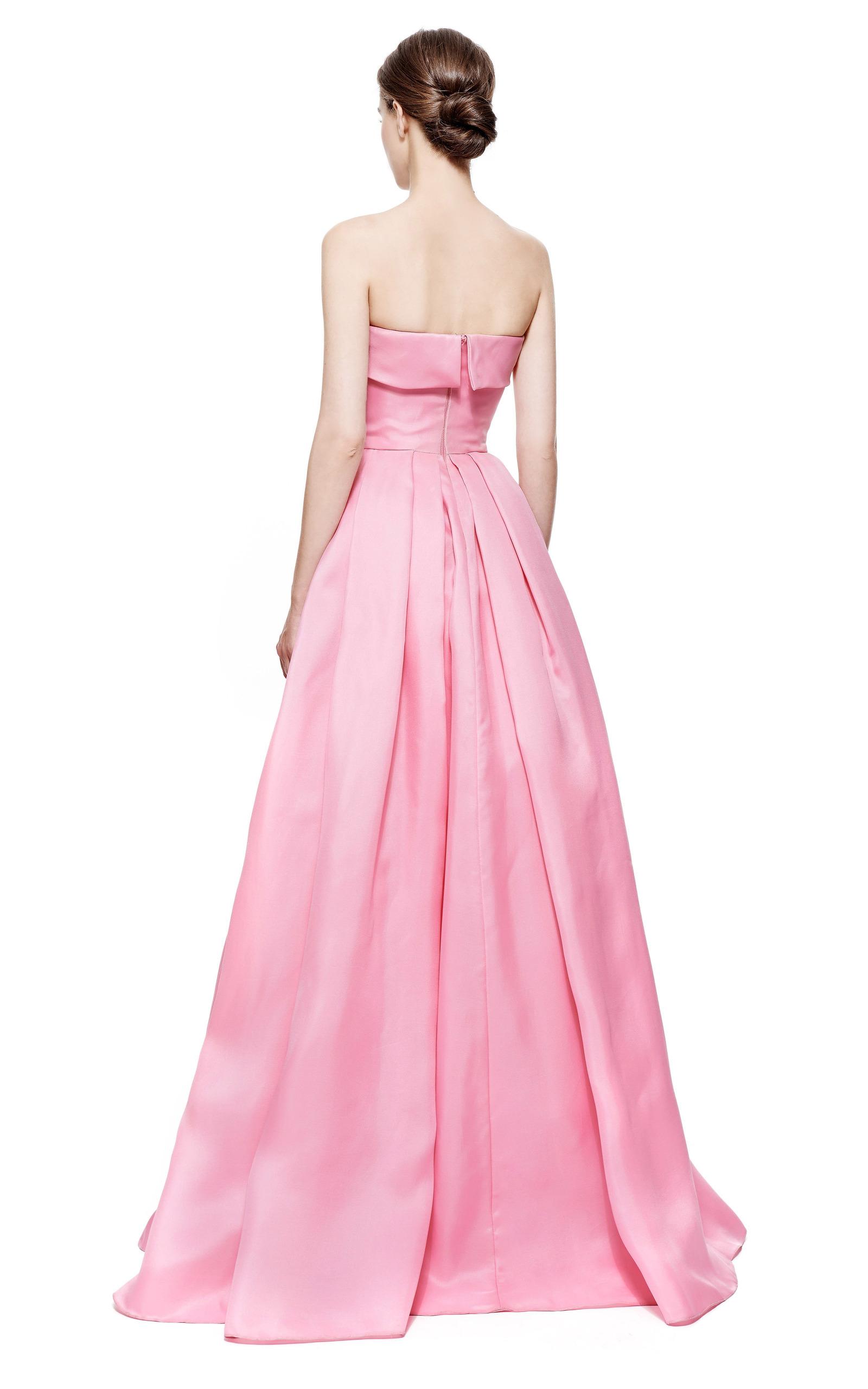 83ae88c743 Reem AcraReem Acra Strapless Silk Gazar Pleated Ball Gown. CLOSE. Loading