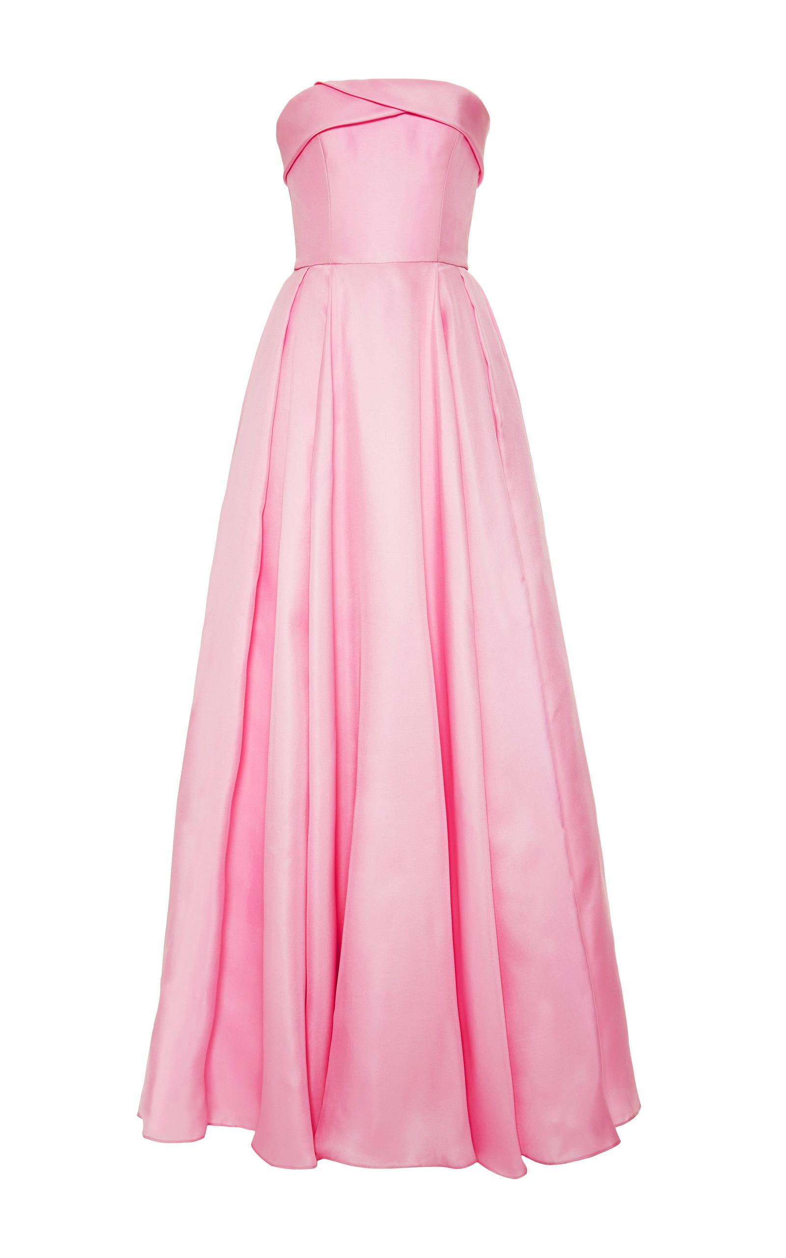 3a391c995a Reem AcraReem Acra Strapless Silk Gazar Pleated Ball Gown. CLOSE. Loading.  Loading