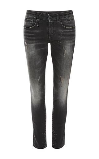 Medium r13 denim black kate distressed skinny