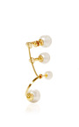 18 K Gold And Pearl Ear Cuff by DELFINA DELETTREZ Now Available on Moda Operandi