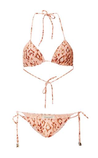 Medium adriana degreas unknown color brush leopard print triangle bikini