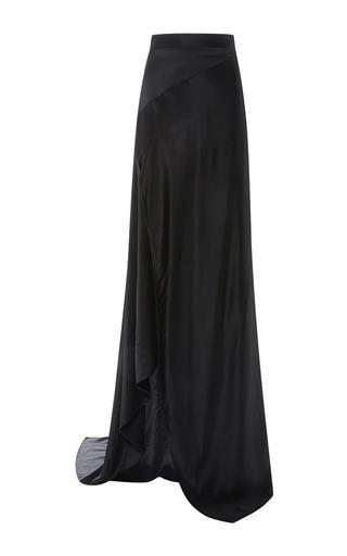 Medium michael lo sordo black empress silk asymetric maxi skirt