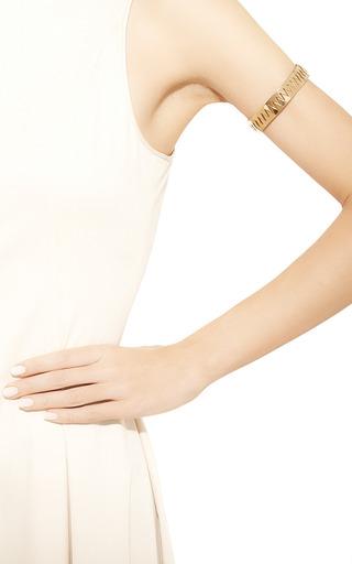 Medium annelise michelson gold carnivore arm cuff