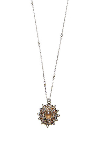 Medium nam cho brown brown riviera flower ring necklace