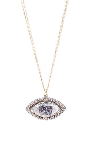 Medium renee lewis multi one of a kind black and white diamond third eye necklace