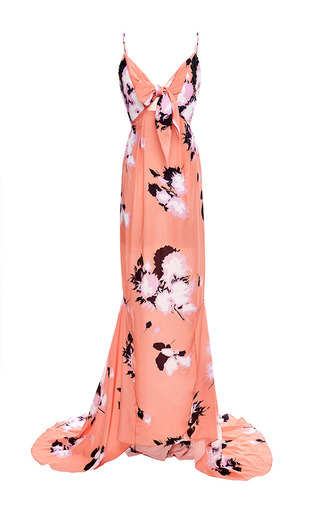 Medium johanna ortiz print cliff embellished long dress