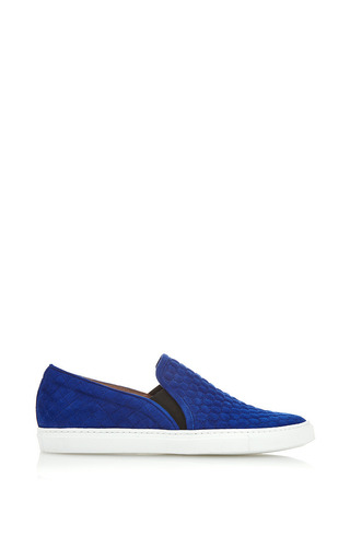Medium tabitha simmons blue huntington slip on quilted sneaker in blue