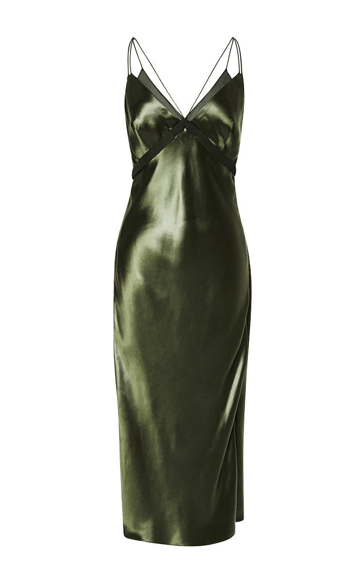 bias cut slip dress by alexander wang