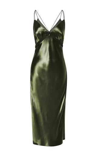Medium alexander wang green bias cut slip dress
