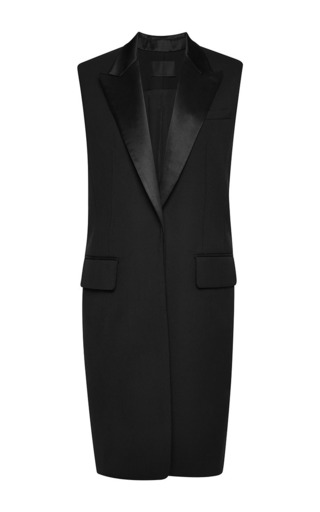 Medium alexander wang black elongated vest with back trouser panel