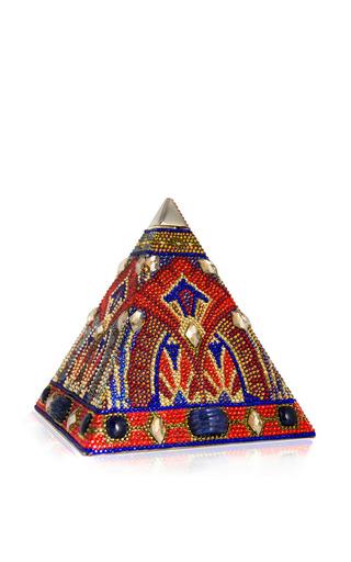 Medium judith leiber multi volcano pyramid clutch