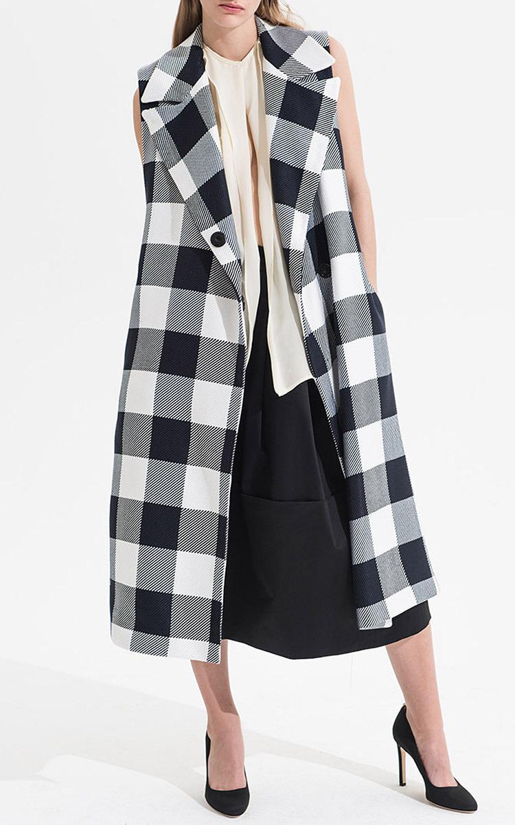 Plaid Sleeveless Trench Coat by Tome | Moda Operandi