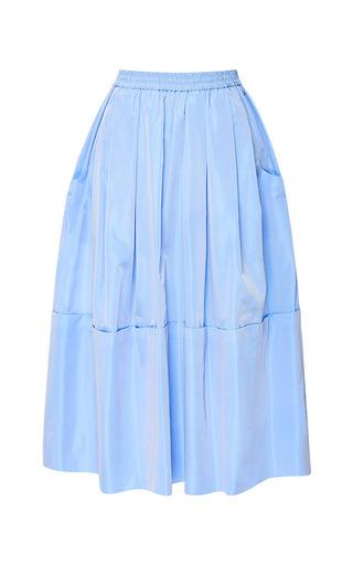 Medium tome blue taffeta dirndl skirt