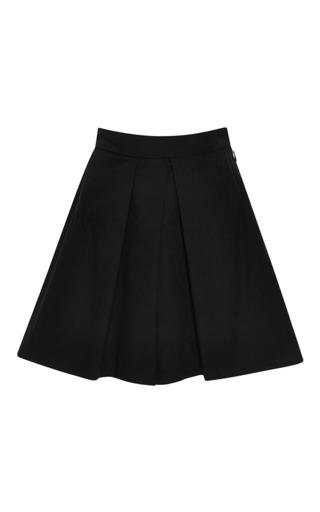 Medium tome black black cotton poplin culotte short