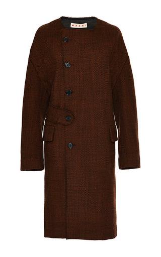 Bonded Tweed Coat by MARNI Now Available on Moda Operandi