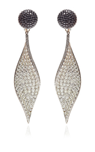 Medium gioia white diamond twist drop earrings