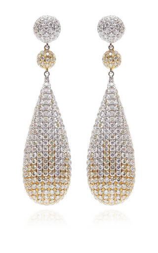 Medium gioia red white yellow diamond drop earrings