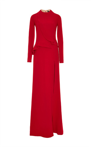 Medium elie saab red stretch cady gown
