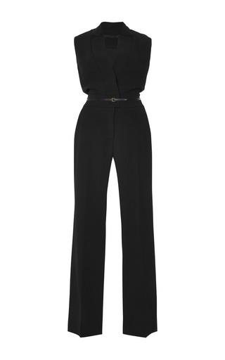 Medium elie saab black stretch cady jumpsuit