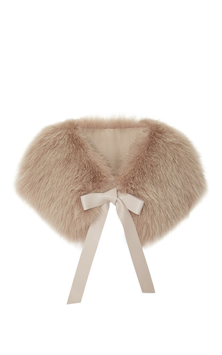 Medium elie saab pink moonstone fox fur stole