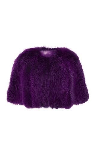 Medium elie saab purple amethyst fox fur bolero