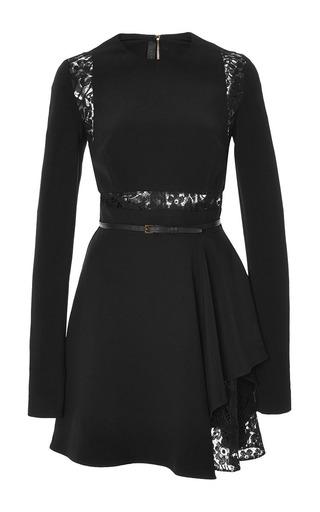 Medium elie saab black crepe cady and lace short dress