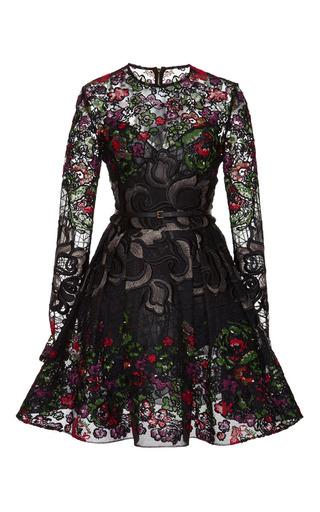 Medium elie saab multi embroidered floral guipure short dress