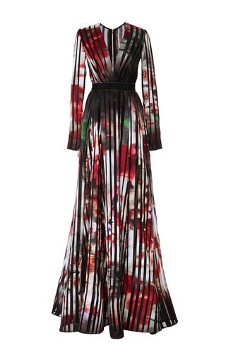 Medium elie saab print striped satin organza gown