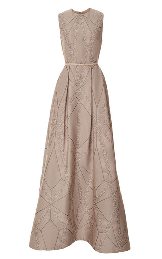 Medium elie saab pink moonstone brocade gown