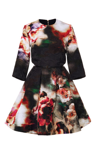 Medium elie saab print floral brocade short dress