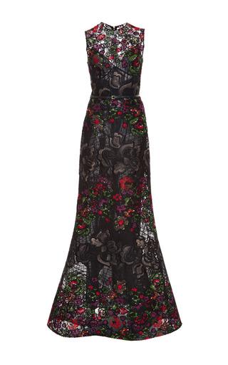 Medium elie saab multi embroidered floral guipure sleeveless gown