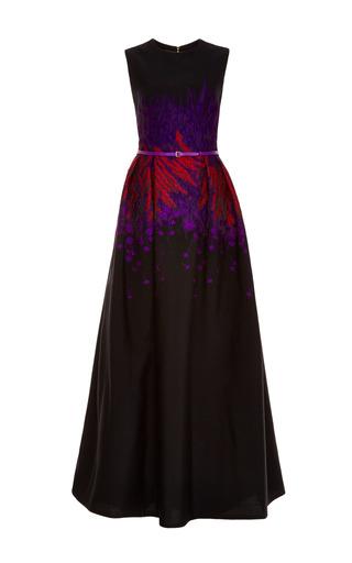 Medium elie saab multi cardinal and amethyst floral brocade gown
