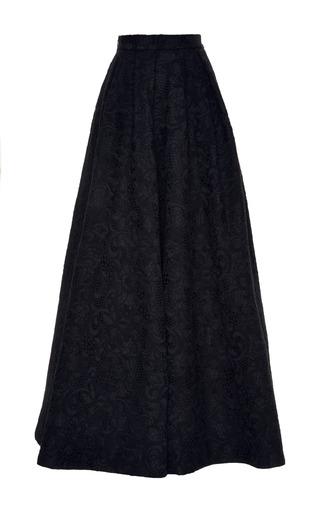 Medium elie saab black black brocade skirt