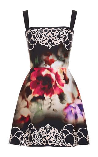 Medium elie saab print crepe cady short dress