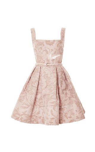 Medium elie saab pink brocade and organza fil coupe short dress