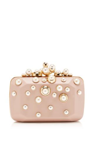 Medium elie saab pink small pearl embellished clutch
