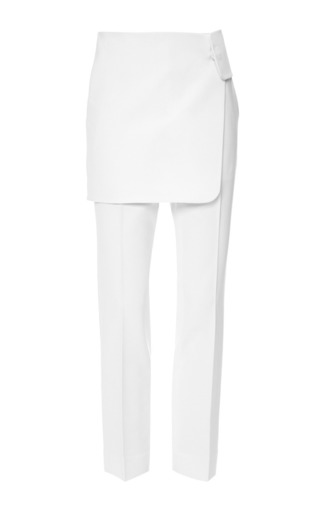 Medium josh goot white bonded wool wrap trouser