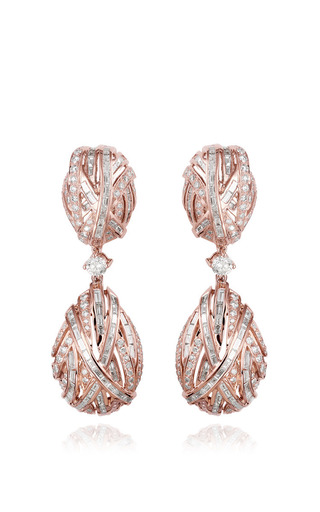 Medium farah khan fine jewelry white the earring of eternity