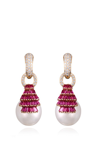 Regal Ruby Earrings By Farah Khan Fine Jewelry Moda Operandi